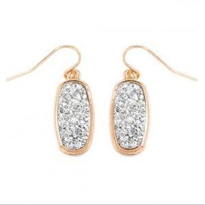 SILVER | Druzy earrings